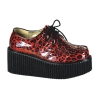 CREEPER-208 Red Cheetah Glitter